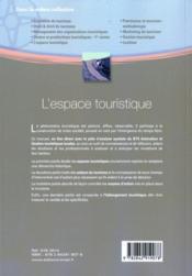L'espace touristique - 4ème de couverture - Format classique