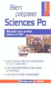 Bien preparer sciences po 3e edition (3e édition) - Intérieur - Format classique