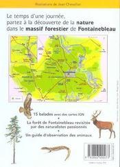 Balades Nature En Foret De Fontainebleau - 4ème de couverture - Format classique