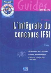 L Integrale Du Concours Ifsi 3e Edition - Intérieur - Format classique