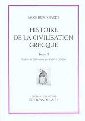 Histoire de la civilisation grecque t2 - Intérieur - Format classique