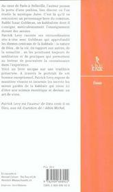 Le Kabbaliste ; Pratique Mystique De La Bible - 4ème de couverture - Format classique