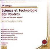 Recents progres en genie des procedes. n. 91 : 4e colloque science et technologie des poudres compie - Couverture - Format classique