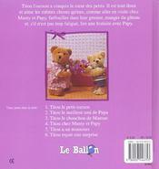 Titou Chez Mamy Et Papy - 4ème de couverture - Format classique