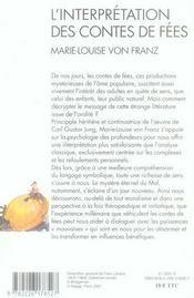 L'interprétation des contes de fées (édition 2007) - 4ème de couverture - Format classique
