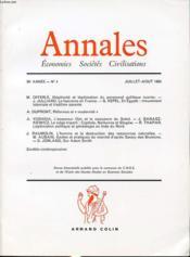 ANNALES : ECONOMIES SOCIETES CIVILISATIONS 39e ANNEE N°4 1984 : Illégitimité et légitimation du personnel politique ouvrier.... - Couverture - Format classique