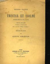 Tristan Et Isolde - Drame Musical En 3 Actes - Couverture - Format classique