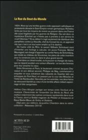La rue du bout du monde - 4ème de couverture - Format classique