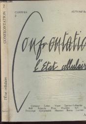 Cahiers N°2 - Confrontation L Etat Cellulaire- Automne 1979 - Couverture - Format classique