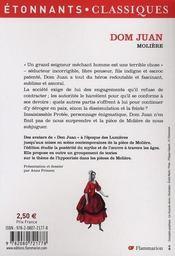 Dom Juan - 4ème de couverture - Format classique