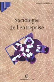Sociologie de l'entreprise - Couverture - Format classique