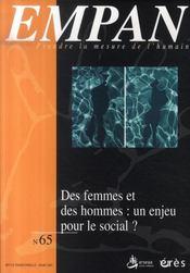 Des femmes et des hommes ; un enjeu pour le social ? - Intérieur - Format classique
