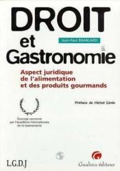 Droit et gastronomie - Couverture - Format classique