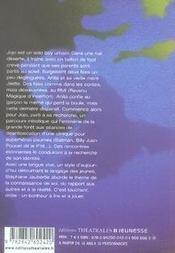Jojo au bord du monde - 4ème de couverture - Format classique