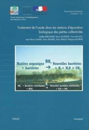 Traitement de l'azote dans les stations d'epuration biologique des petites collectivites. doc techni - Couverture - Format classique