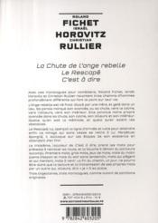 Monologues pour hommes - 4ème de couverture - Format classique