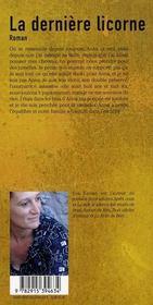 Dernière licorne - 4ème de couverture - Format classique