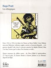 Corto Maltese ; les éthiopiques - 4ème de couverture - Format classique