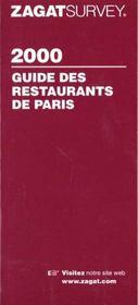 Guide zagat restaurants de paris 2000 (francais) - Intérieur - Format classique