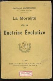 La Moralite De La Doctrine Evolutive. - Couverture - Format classique