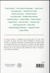 Mexico 20 ; la nouvelle poésie mexicaine - 4ème de couverture - Format classique
