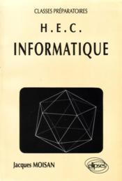 Informatique (Classes Prepas Hec) - Couverture - Format classique