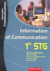 Stg ; Information Et Communication ; Specialite Communication - Couverture - Format classique