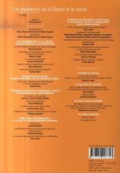 Revue Empan N.66 ; Les Paradoxes De La Liberté - 4ème de couverture - Format classique