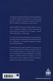 L'Empire De L?Executif (1933-2006). La Presidence Des Etats-Unis De Franklin Roo - 4ème de couverture - Format classique