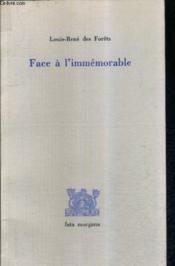 Face à immémorable - Couverture - Format classique