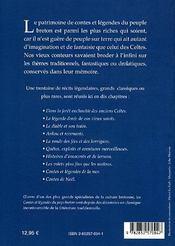 Contes et legendes du pays breton - 4ème de couverture - Format classique