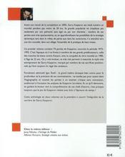 Les meilleures parties de garry kasparov t.1 - 4ème de couverture - Format classique