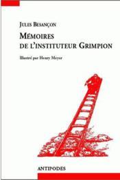 Mémoires de l'instituteur Grimpion - Couverture - Format classique