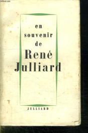 En Souvenir De Rene Julliard. - Couverture - Format classique