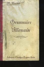 GRAMMAIRE ALLEMANDE. 11e EDITION. - Couverture - Format classique