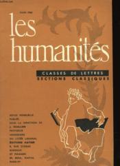 Les Humanites N°354 - Classes De Lettres - Sections Classiques - Couverture - Format classique