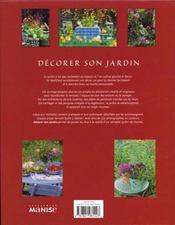 Decorer Son Jardin - 4ème de couverture - Format classique