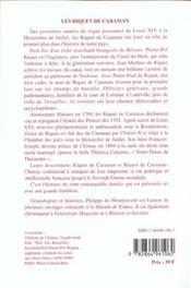Les riquet de caraman - 4ème de couverture - Format classique