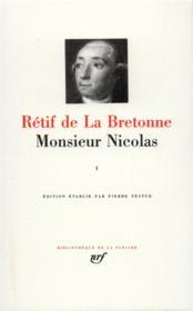 Monsieur Nicolas t.1 - Couverture - Format classique