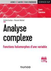 Analyse complexe : fonctions holomorphes d'une variable - Couverture - Format classique
