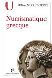 Numismatique grecque - Couverture - Format classique