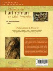 Chemins de l'Art roman en Aquitaine et Midi-Pyrénées - 4ème de couverture - Format classique