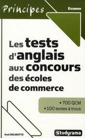 Les tests d'anglais aux concours des écoles de commerce - Intérieur - Format classique