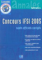 Concours Ifsi 2005 - Intérieur - Format classique