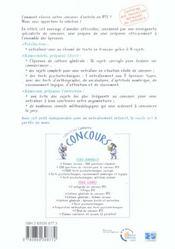 Concours Ifsi 2005 - 4ème de couverture - Format classique
