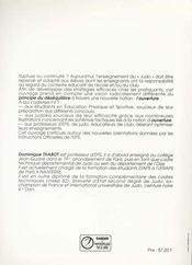 Judo Optimal : Travail De L'Ouverture, Intelligence Tactique, Principes - 4ème de couverture - Format classique