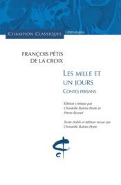 Les mille et un jours ; contes persans - Couverture - Format classique