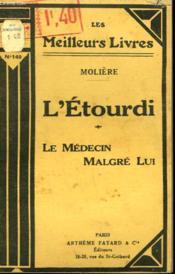 L'Etourdi Suivi De Le Medecin Malgre Lui. Collection : Les Meilleurs Livres N° 149. - Couverture - Format classique