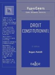 Droit Constitutionnel - Couverture - Format classique