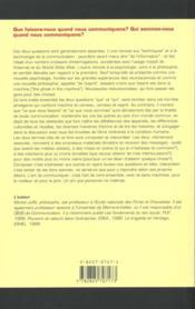 L'Art De Communiquer - 4ème de couverture - Format classique